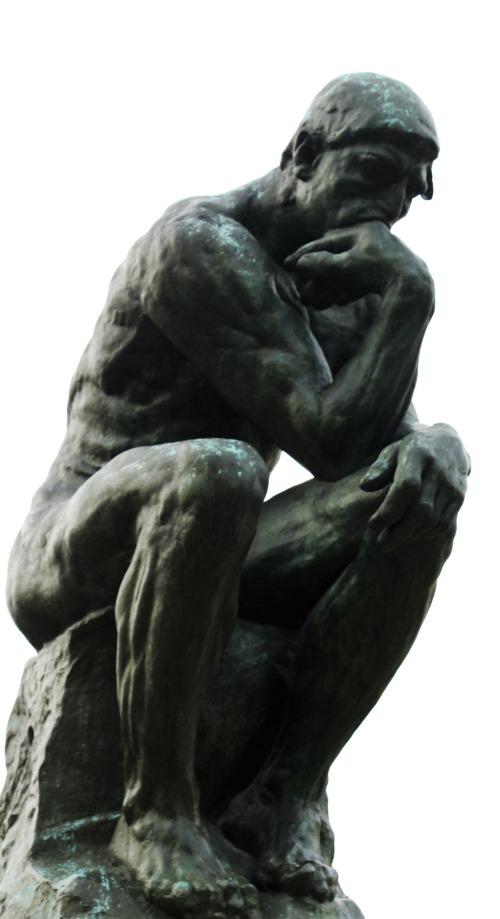 Pensador-Persona-Sentarse-Sesión-Pensamiento